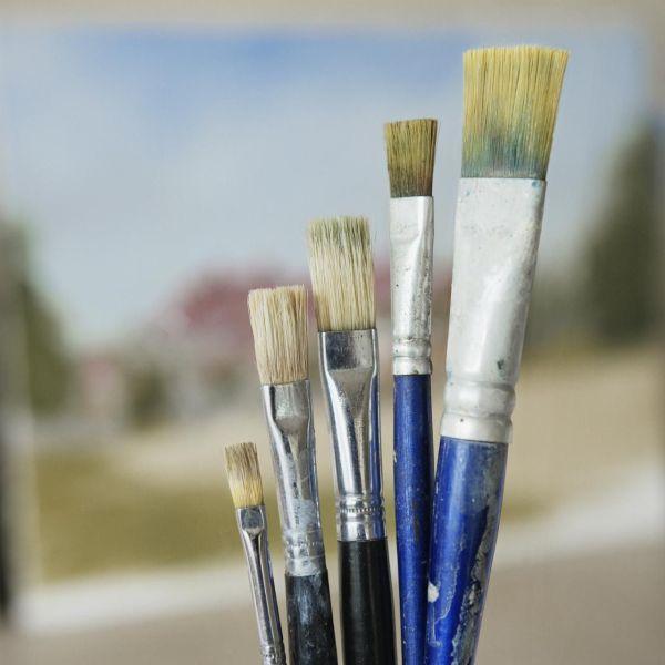 Painting Brush Hairs And Bristles