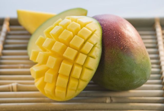 Mango cut in cubes