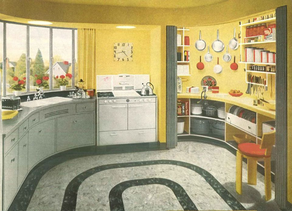 1940s Home Style Kitchen Decor