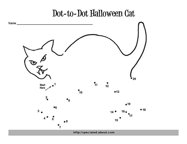 A Witch Dot-to-Dot for Counting to Ten