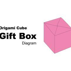 Folding Origami Box Diagram Isuzu Kb Radio Wiring Cube Gift