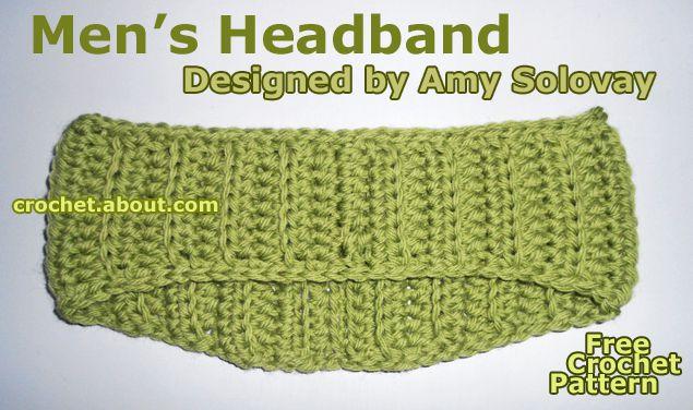 Mens Fall or Winter Headband  Free Crochet Pattern