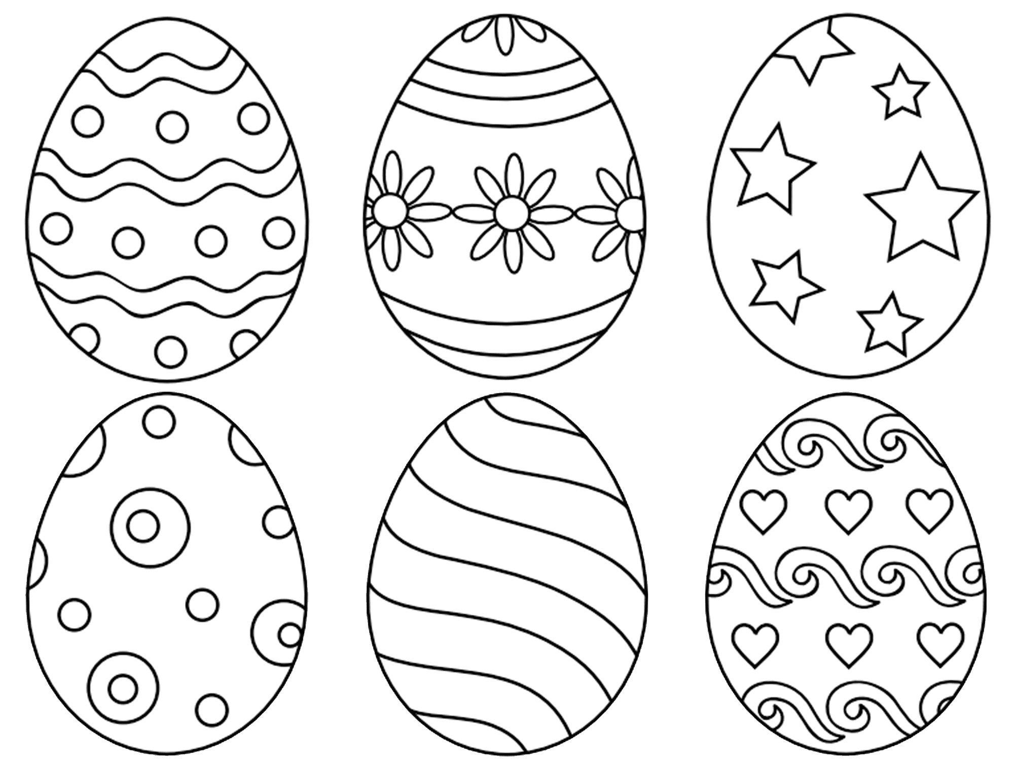 Easter Egg Coloring Pictures To Print Coloring Page