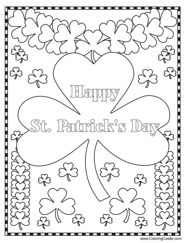 259 Free, Printable St. Patrick's Day Coloring Pages