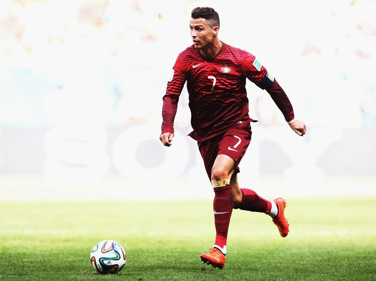 Cristiano Ronaldo playing against Ghana