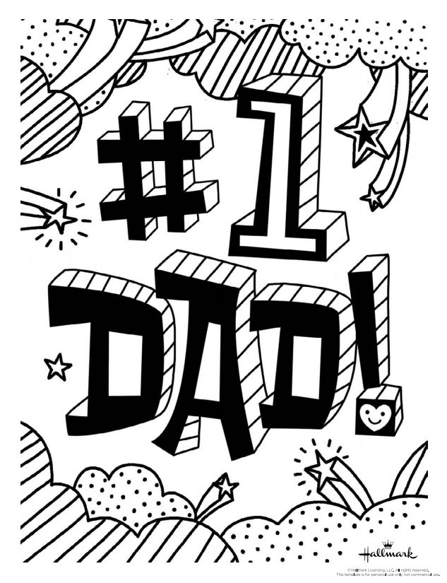 169 Free, Printable Father's Day Coloring Pages
