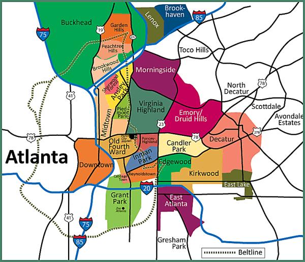 Moving to Atlanta City or Suburbs