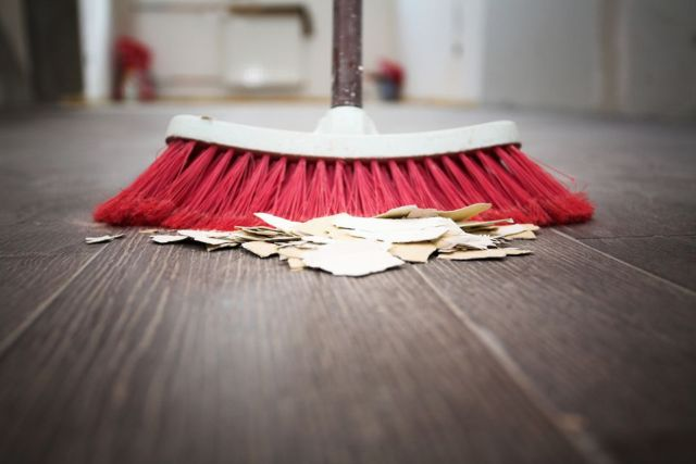 Image result for no sweeping floor