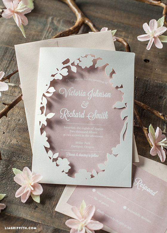 Spring Blossom Printable Wedding Invitation