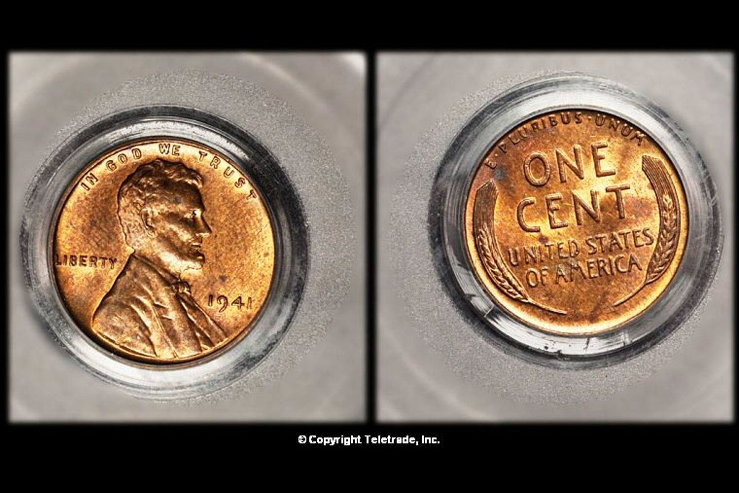 hight resolution of  uncirculated lincoln wheat penny