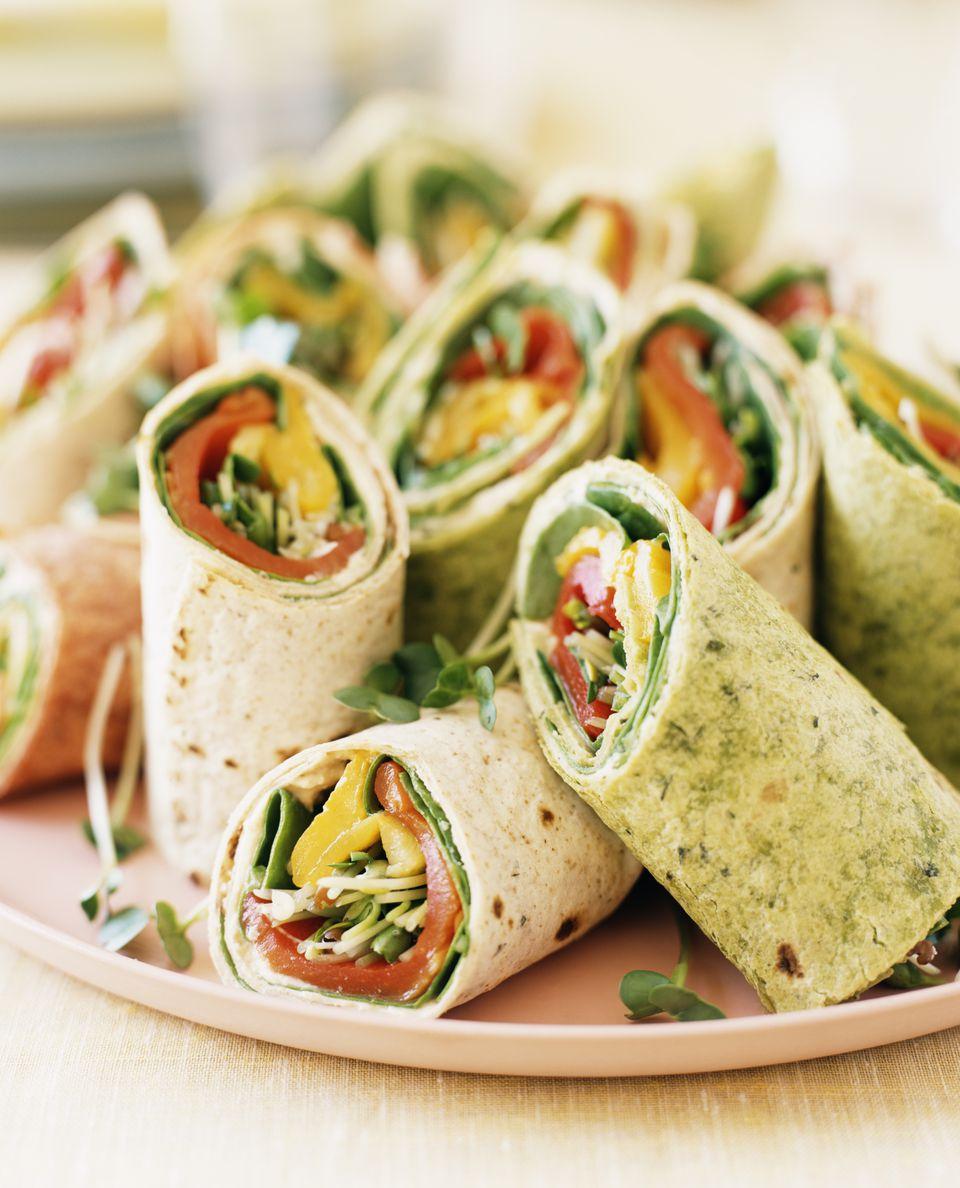 Vegan Cream Cheese Veggie Wraps Recipe