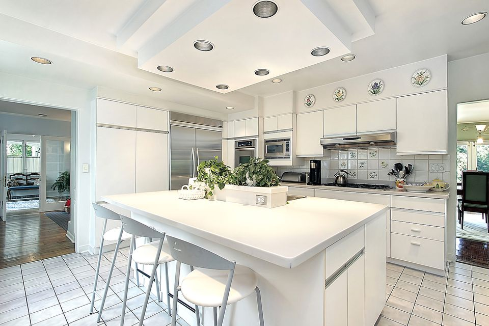 Gray With White Cabinets Granite Countertops