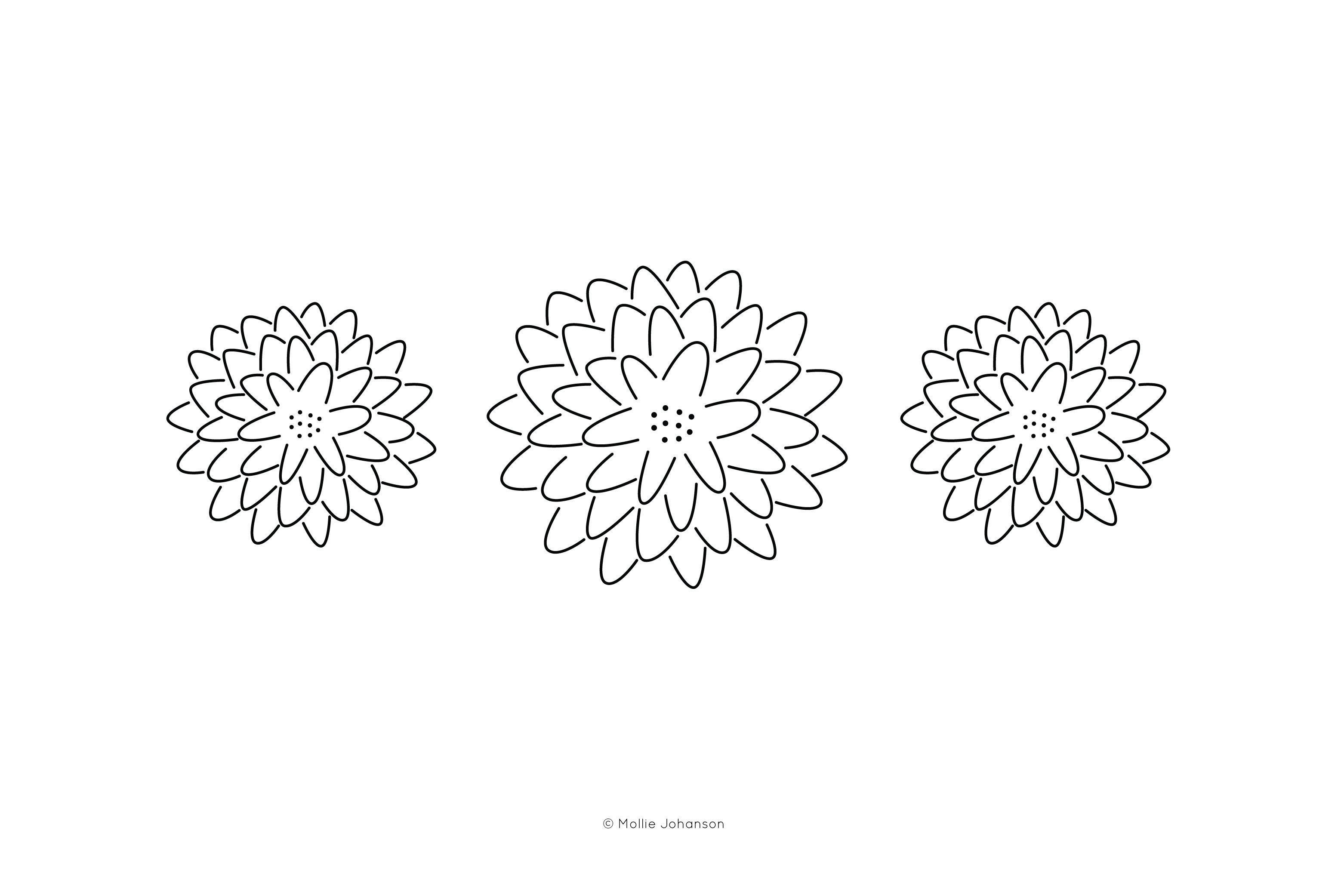 Modern Chrysanthemum Embroidery Pattern