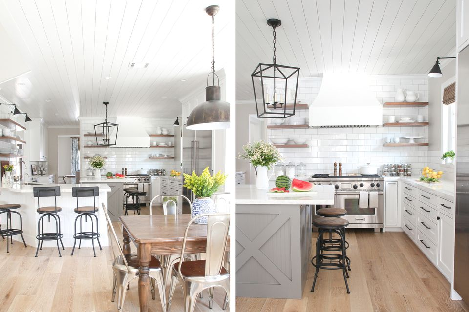 best off white color for kitchen cabinets bar island gorgeous modern farmhouse kitchens