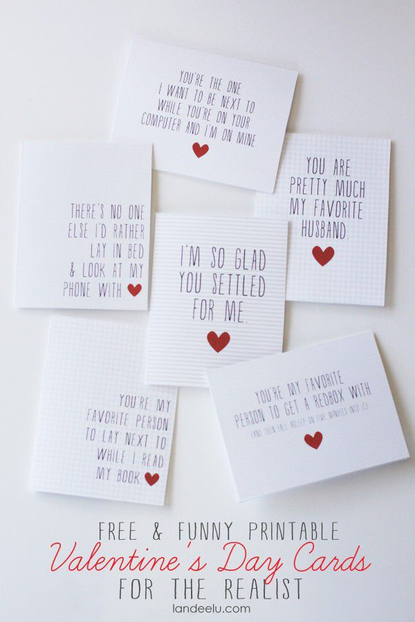 54 Funny And Free Valentines Day Cards You Can Print