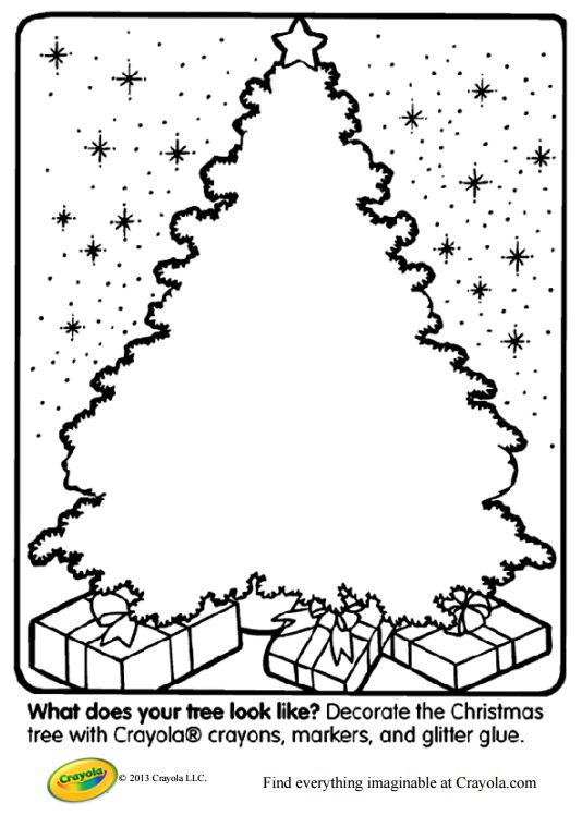 Decorate Your Own Christmas Tree Printable