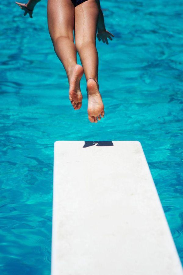 Swimming Pool Diving Board Jumping