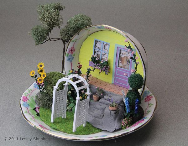 printable miniature arched garden