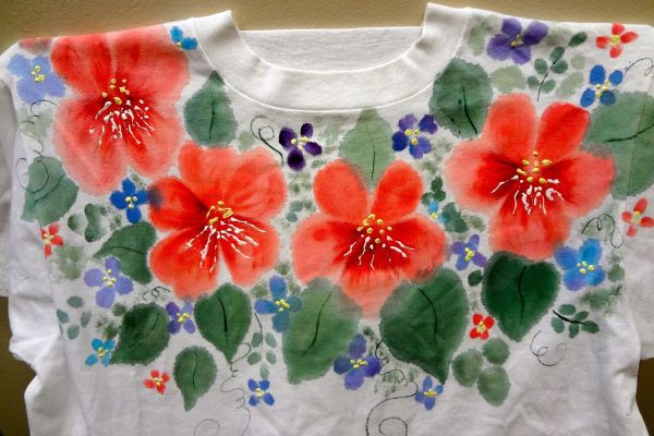 Painting with Fabric Paint Shirts
