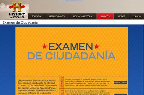 Examen de ciudadana en espaol