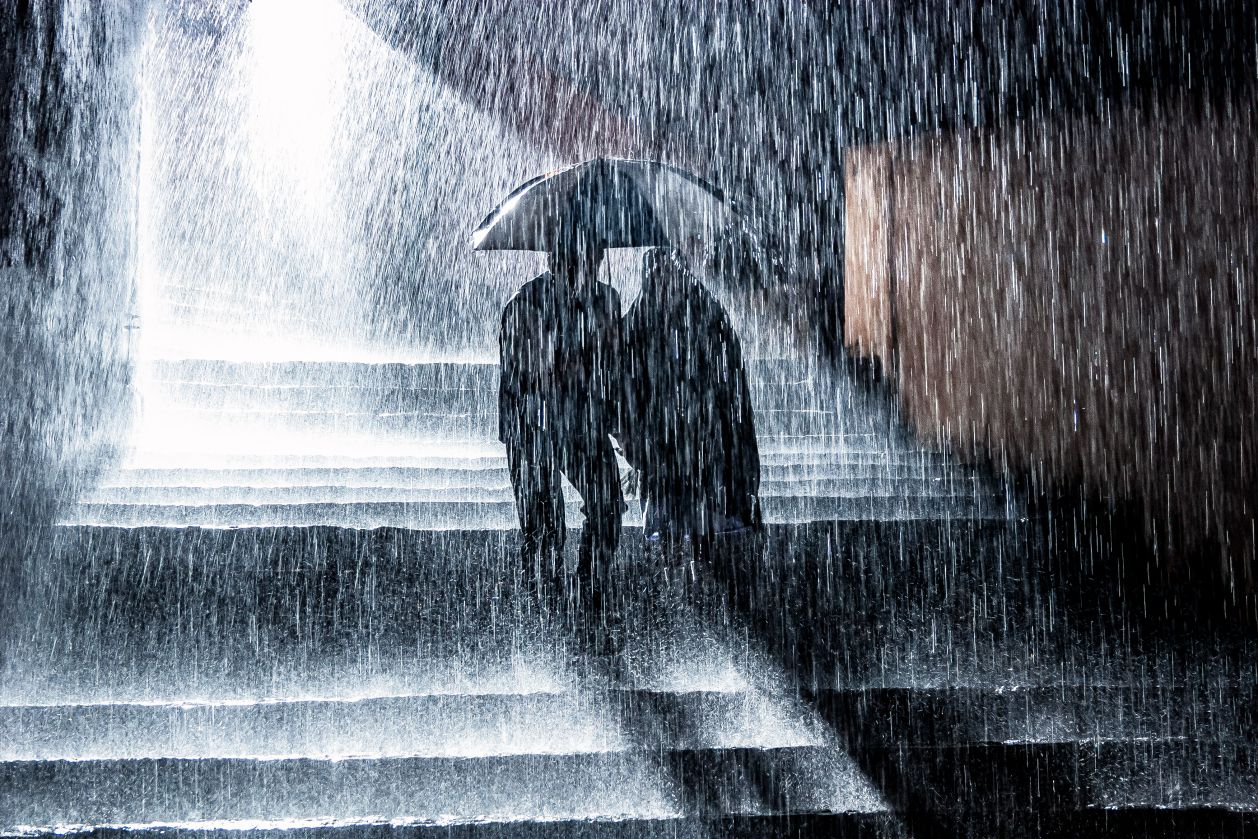 How Forceful Is Torrential Rain?