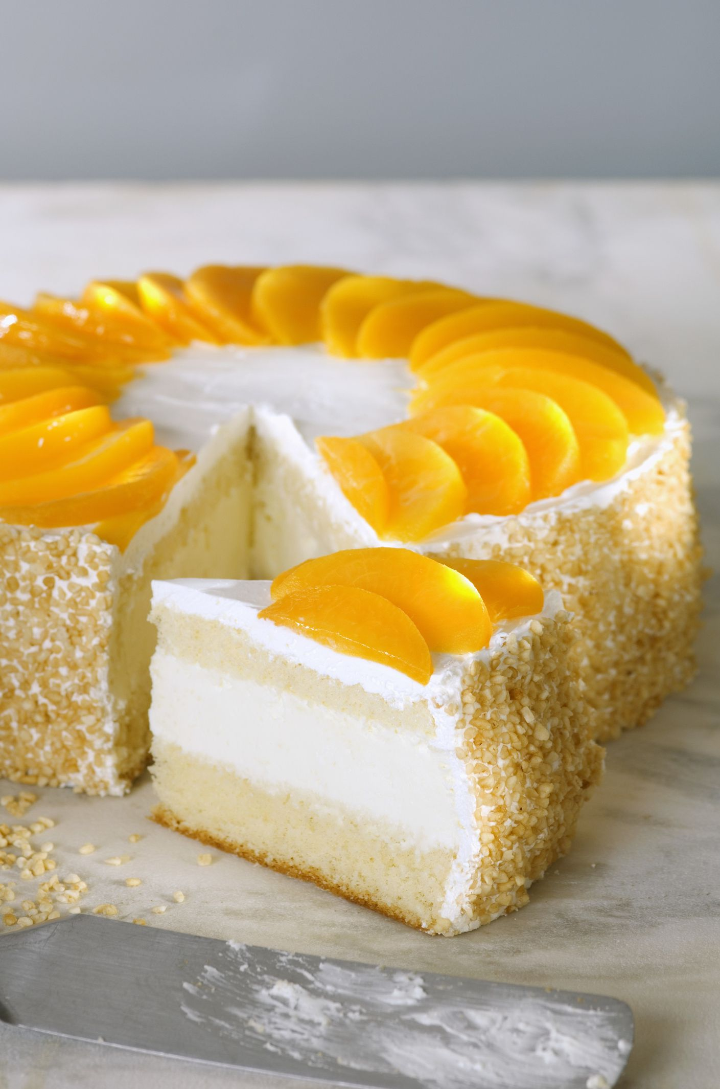 Postre Chaja Peach Meringue Cake Recipe