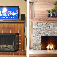 Feature Wall Paint Ideas For Living Room Rustic Beach 25 Beautifully Tiled Fireplaces