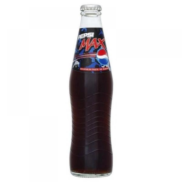 Pepsi Max Retro Glass Bottle 300ml Approved Food
