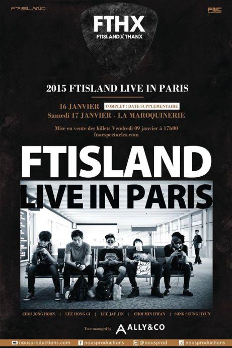 ftisland live in paris date supplementaire fthx