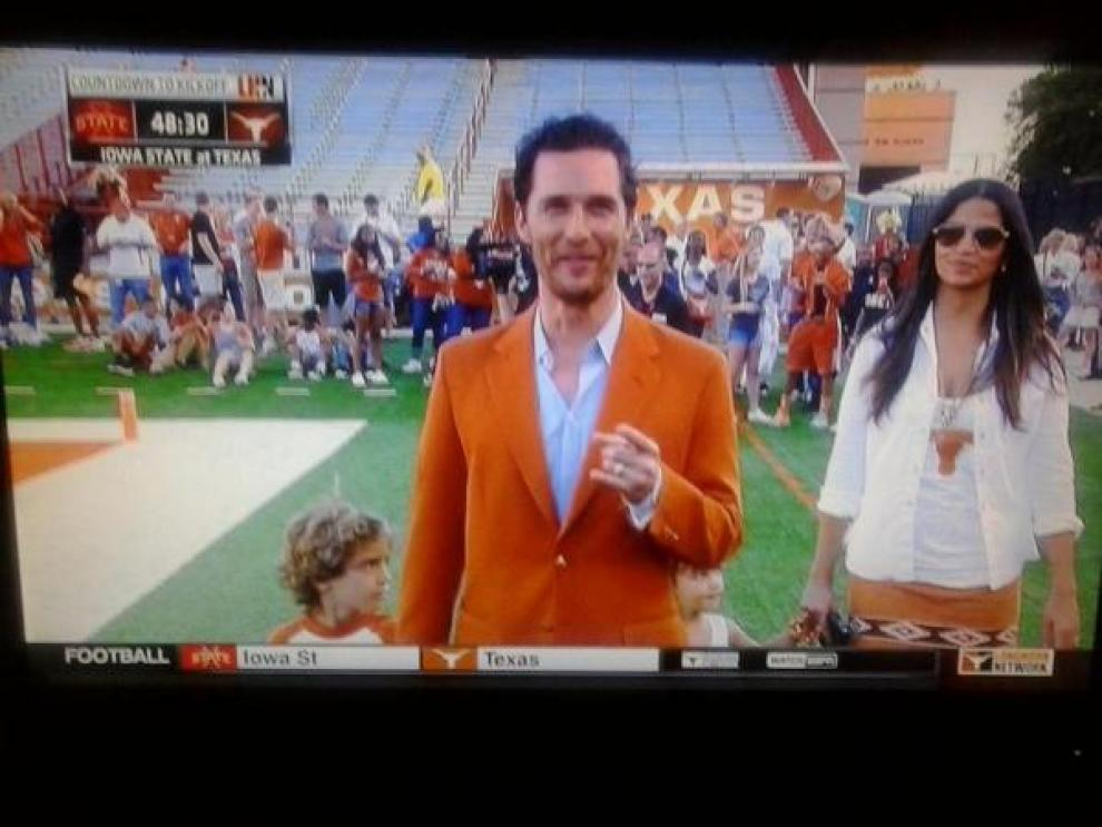 Image result for matthew mcconaughey burnt orange suit