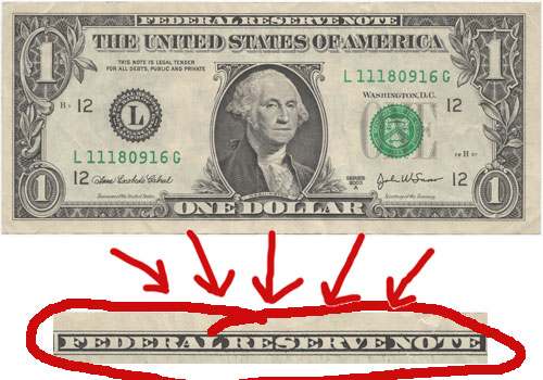 Federal Reserve Note - Money is Debt and Debt is Money