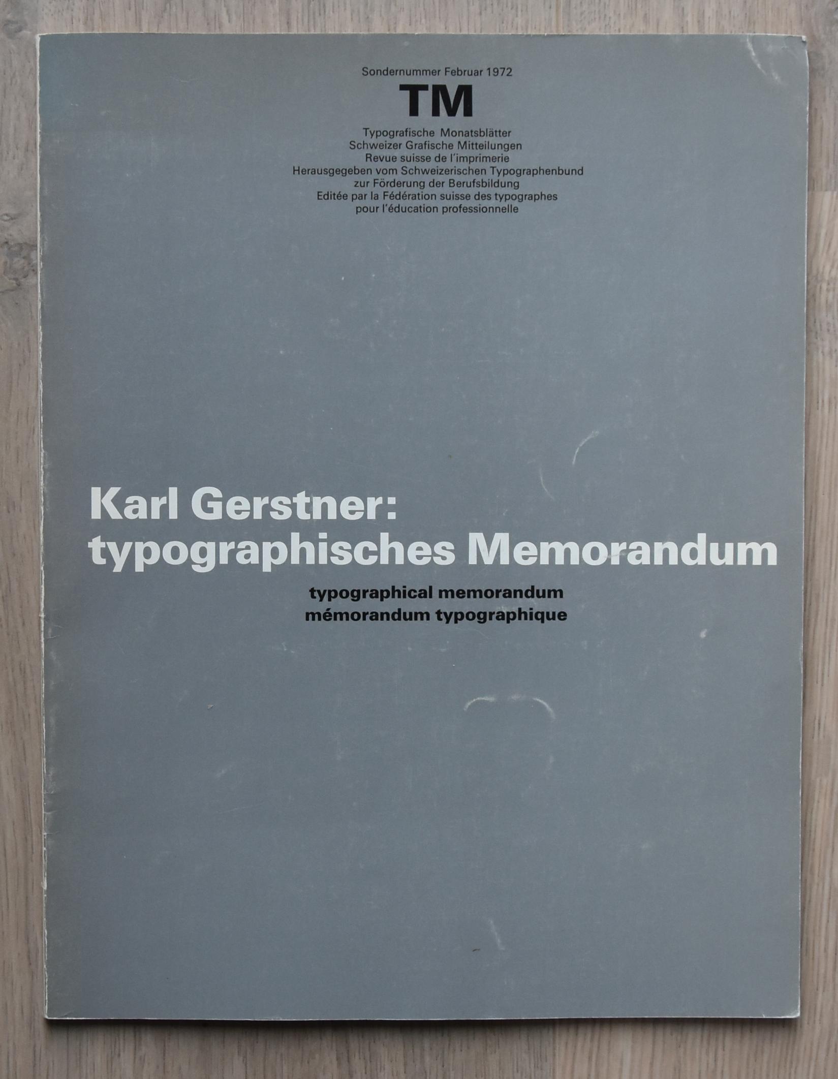 gerstner memorandum