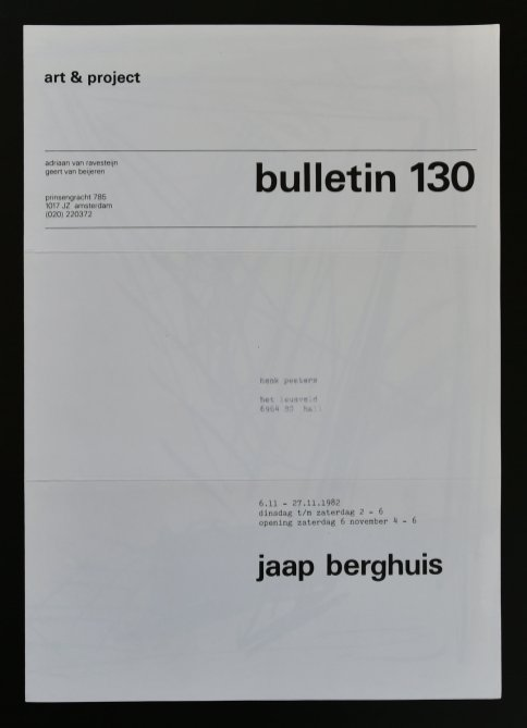berghuis bulletin 130 a