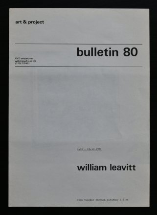 leavitt bulletin 80 a