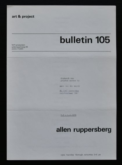 ruppersberg bulletin 105 a