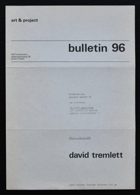 tremlett bulletin 96 a