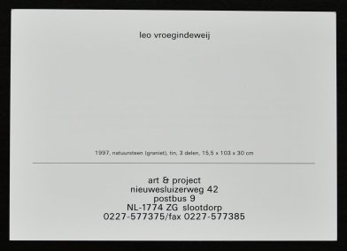 vroegindeweij inv 1997 b