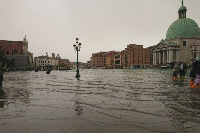 Italian city of Venice is under water again