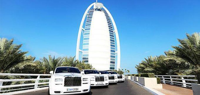 Burj Al Arab RollsRoyce phantom