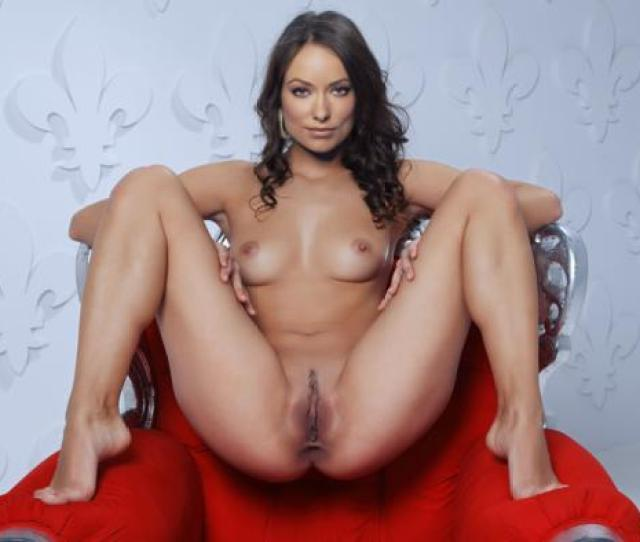 Olivia Wilde Actress Brunette Nude Fake Spread Legs Landing Strip