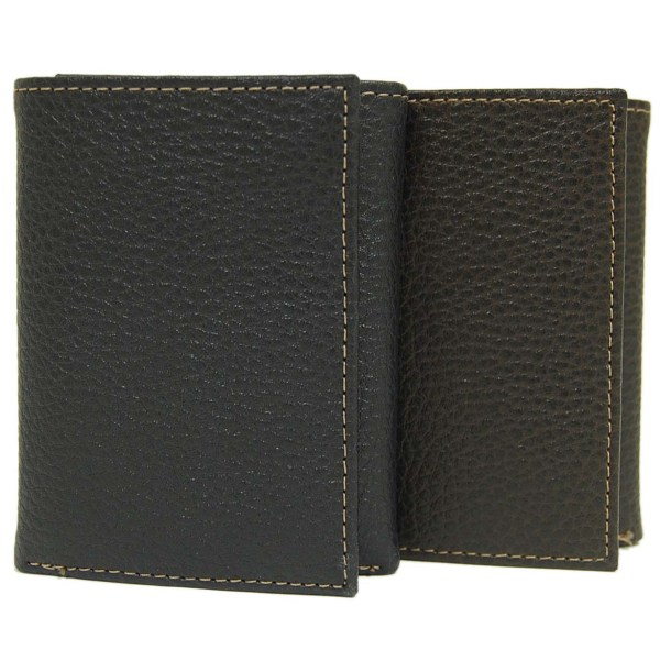 Joseph Abboud Pebble Grain Leather Tri-fold Wallet