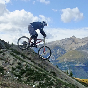 Image result for going downhill on a bike