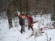 Rangers in Training Dragging Leaddog's 7pt Buck 2013