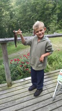 Hunter with a nice Brook trout!