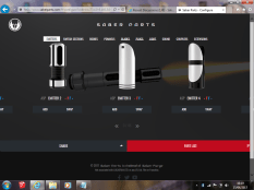 Emitter parts menu