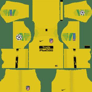 Atletico Madrid UCL Goalkeeper Third Kit