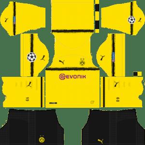 Borussia Dortmund UCL International Kit (Black Shorts Edition)