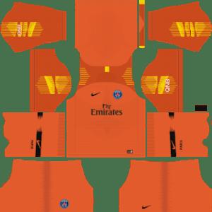 Paris Saint-GermainGoalkeeper Home Kit 2019