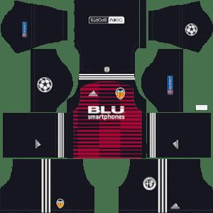 Valencia UCL Goalkeeper Home Kit