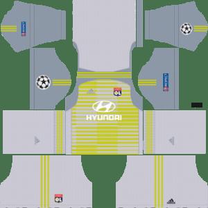 Olympique Lyonnais Goalkeeper Away Kit: